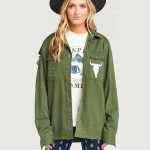 Show Me Your MuMu Olive Army Bull Jacket